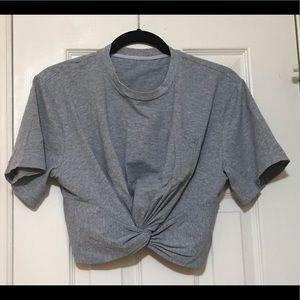 Alexander Wang Twist Front Crop Top T Shirt EUC S
